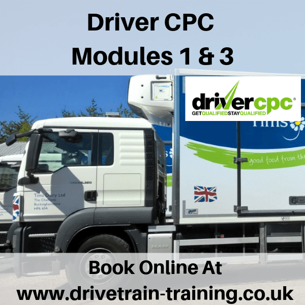 Driver CPC Modules 1 and 3 Thur 12 September 2019
