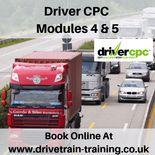 Driver CPC Modules 4 and 5 Sat 14 September 2019
