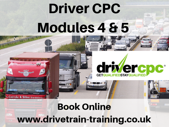 Driver CPC Modules 4 and 5 Tuesday 29 October 2019